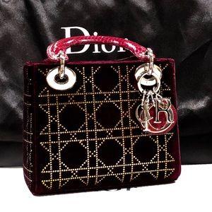 Dior Limited Edition Burgundy Swarovski Bag